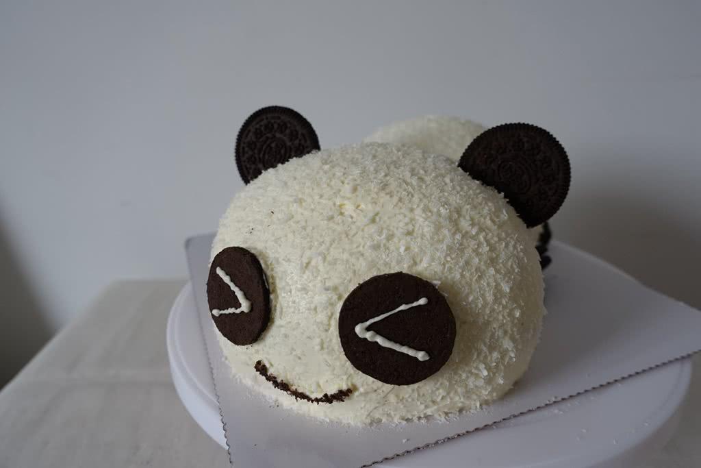 熊猫造型蛋糕