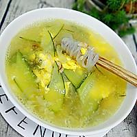 黄瓜鸡蛋粉条汤