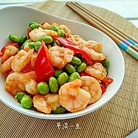 毛豆炒虾仁的做法图解7