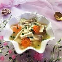 杂菇豆腐汤