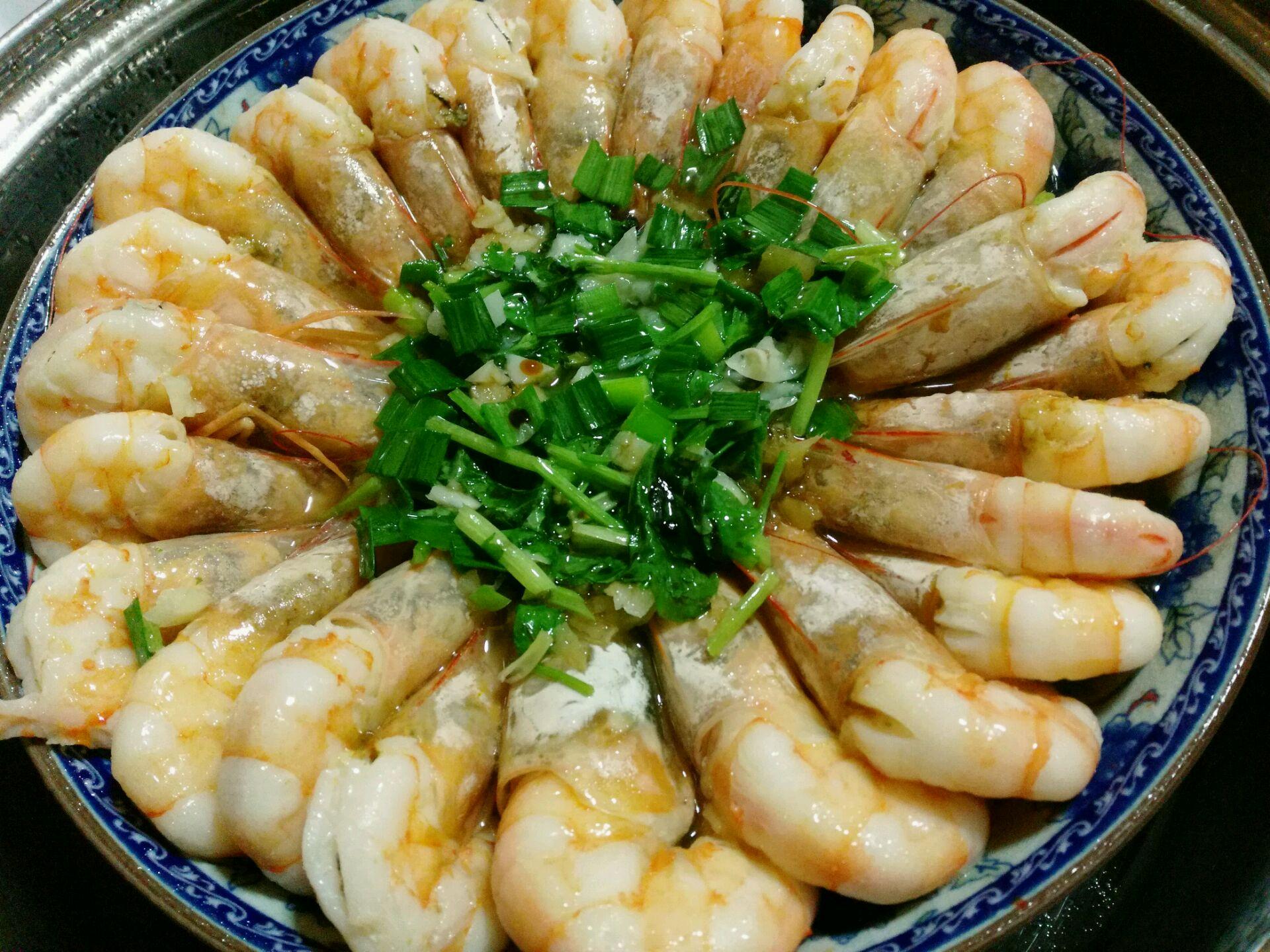 清蒸香喷喷大虾的做法图解3