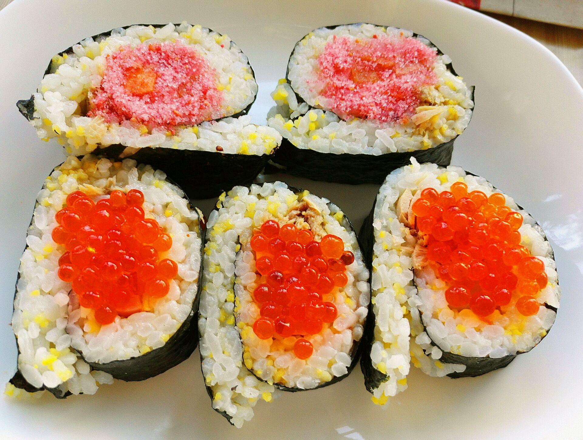 金枪鱼鱼籽寿司的做法图解9
