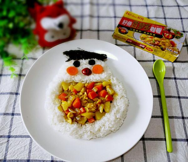 萌宝鸡肉咖喱饭