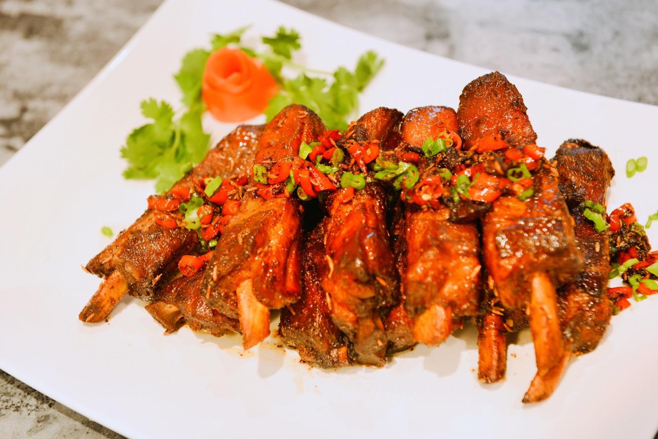 油浓厚花椒粉适量孜香适量的排骨菜谱的蛤蟆孜然本步骤的做做法专吃天鹅肉图片