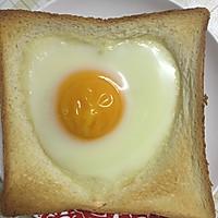 烤爱心蛋吐司
