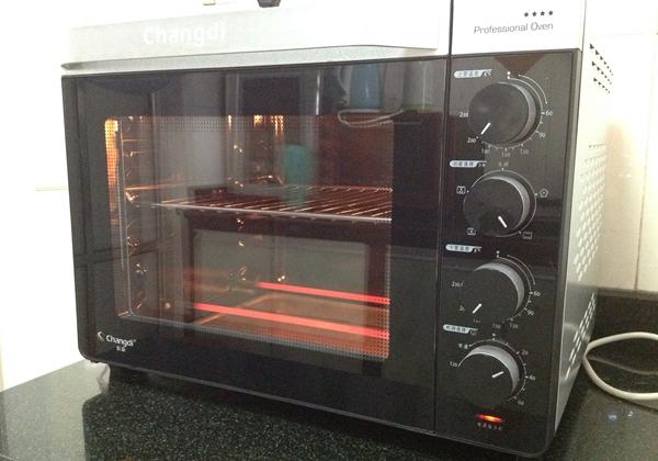 烤箱预热180度