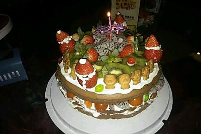杂果缤纷裸蛋糕