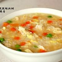 蔬菜鸡肉粥