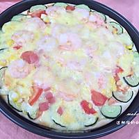 火腿鲜虾披萨,免做披萨底