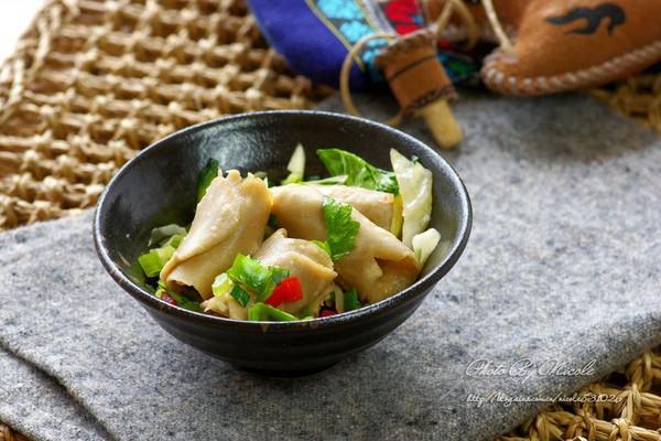 传统莜面窝窝配凉汤的做法