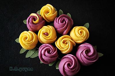 玫瑰花馒头  面食也可以如此华丽