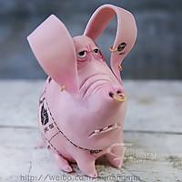 我很丑但我很温柔-翻糖猪猪玩偶捏塑
