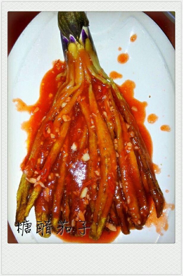 糖醋茄子的做法图解3