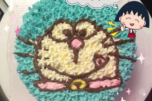 蓝胖子水果奶油蛋糕