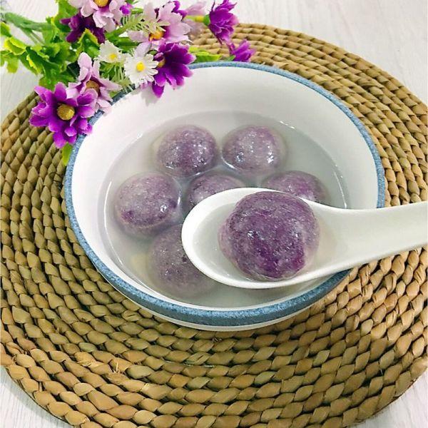 水晶紫薯汤圆(木薯粉版)