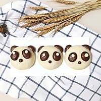 熊猫豆沙包#柏翠辅食节-营养佐餐#