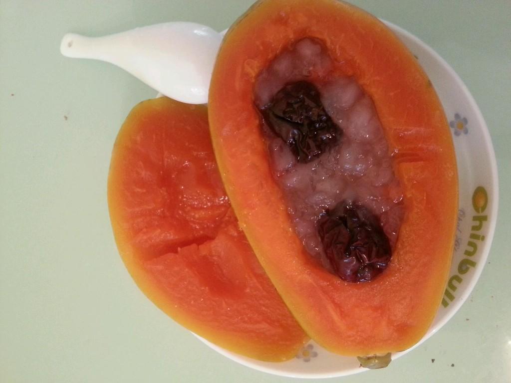 木瓜炖雪蛤的做法 !