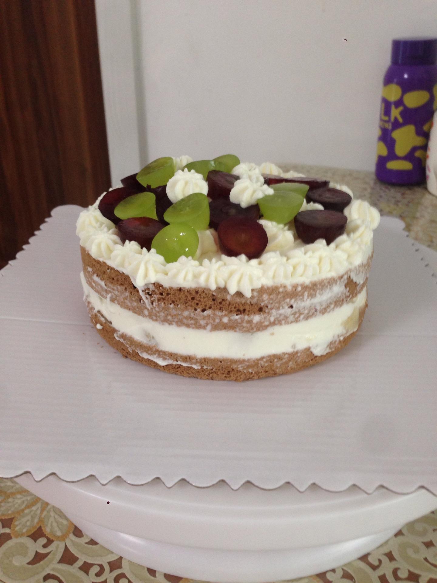 四寸小甜点葡萄蛋糕的做法图解6