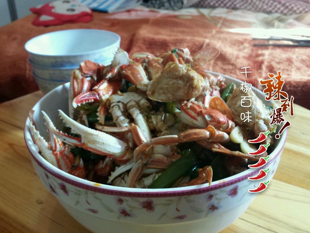 红烧海螃蟹的做法图解3