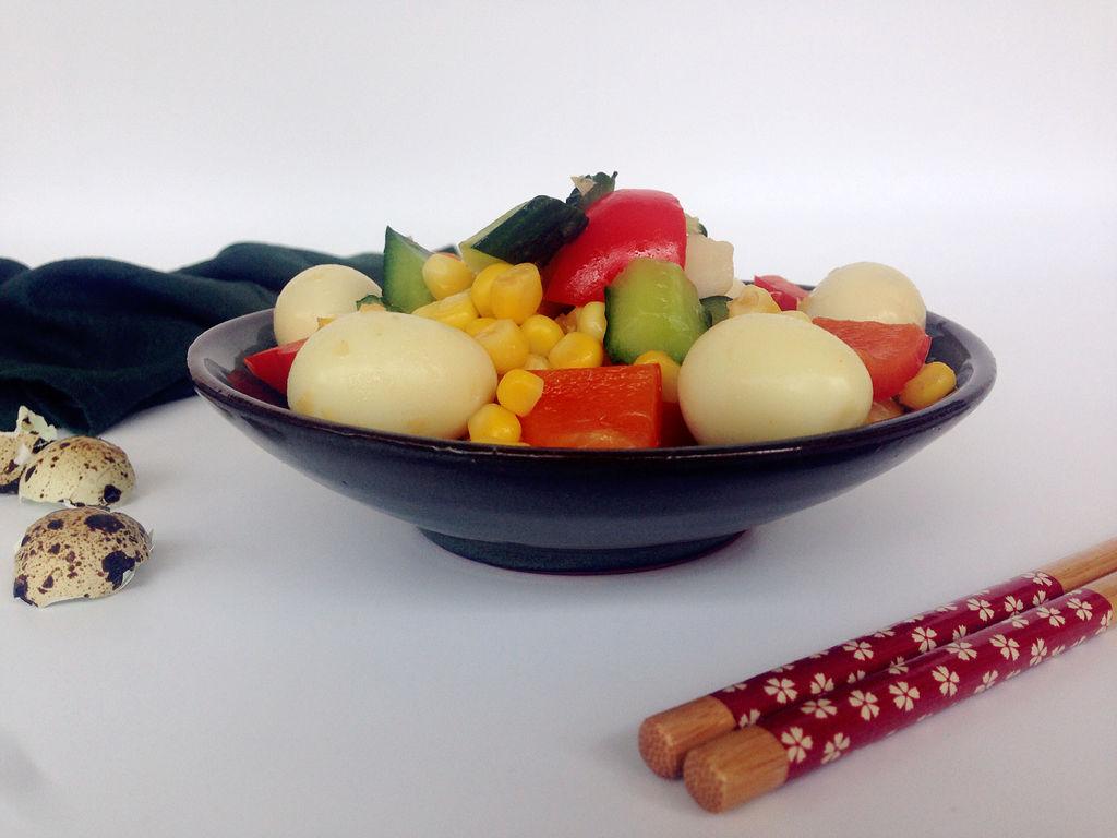 鹌鹑食谱肥肠蛋卤的大全时蔬七彩心做法图片