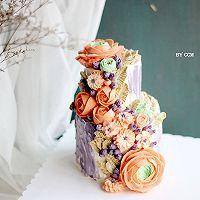 复古双层裱花蛋糕#相约MOF#