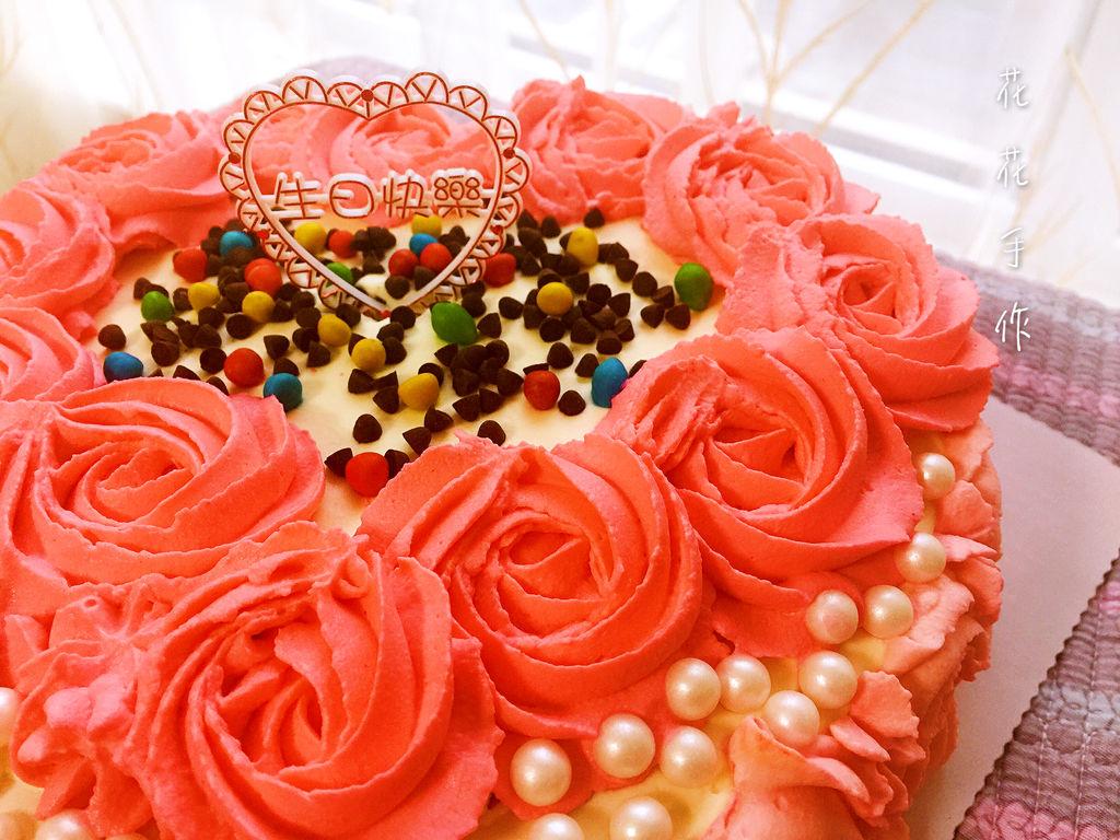玫瑰花心形蛋糕的做法图解7