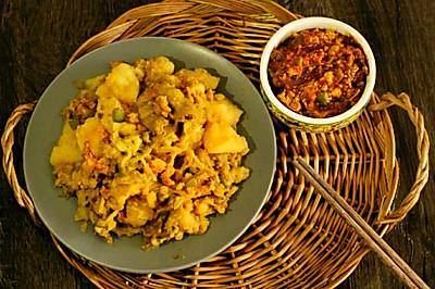 土豆拌茄子(附鸡蛋酱做法)