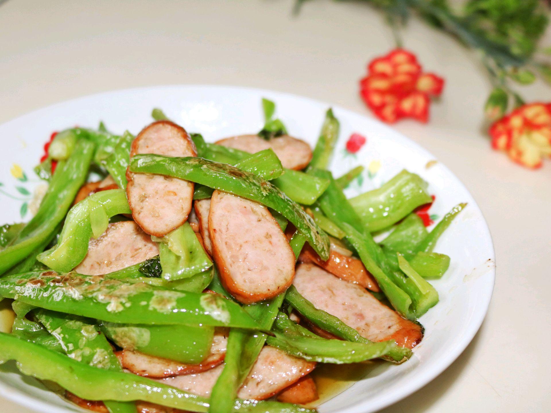 美式火腿炒青椒