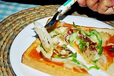 懒人也能吃披萨!——懒人吐司披萨