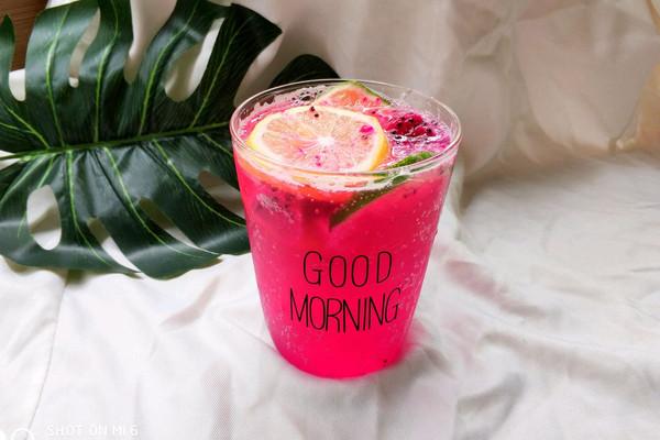 火龙果柠檬气泡水#每一道菜都是一台时光机#的做法