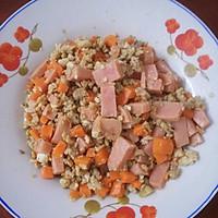 红萝卜火腿炒肉碎