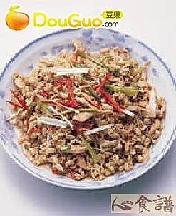 红豆芽炒肉丝的做法