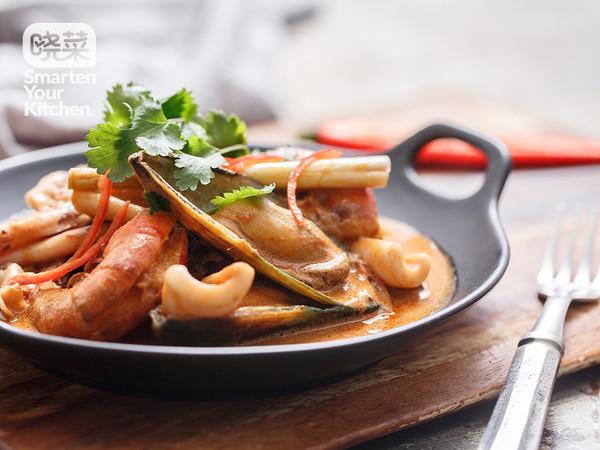 红咖喱什锦海鲜