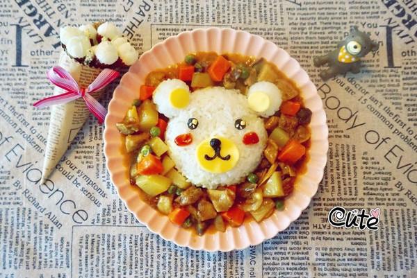 小熊咖喱牛腩饭