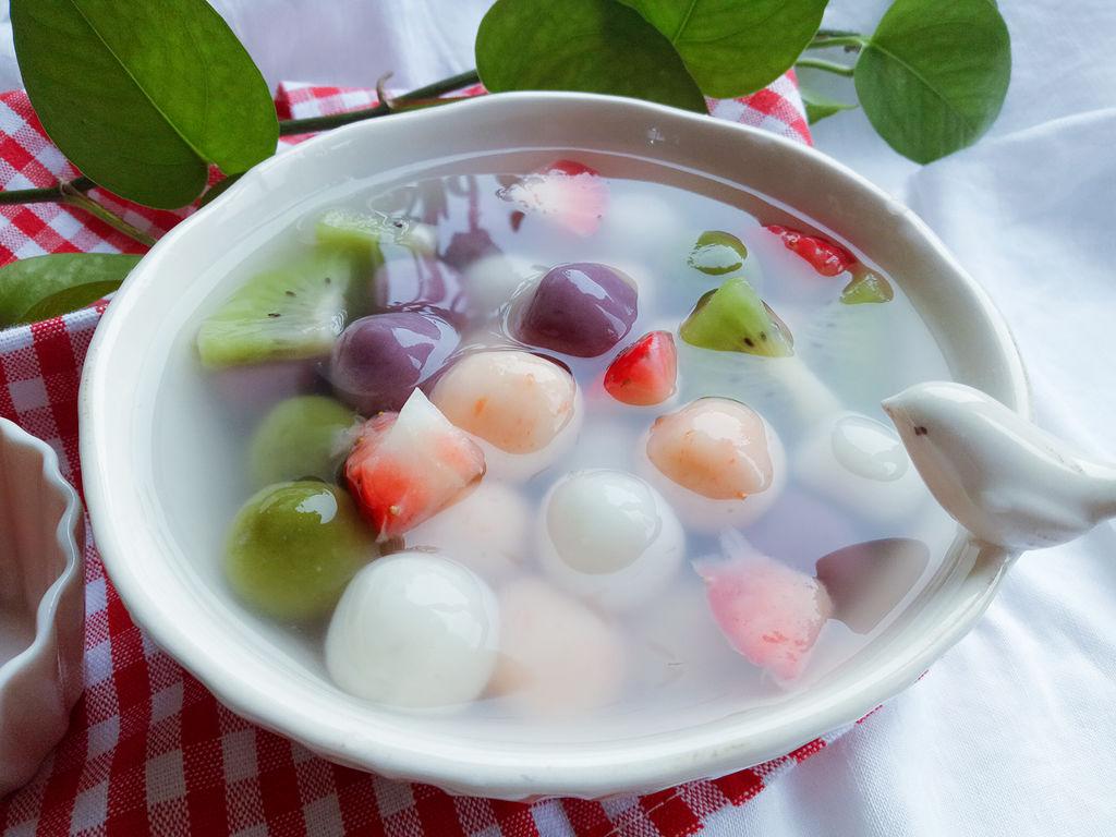 【福禄寿喜——四色水果汤圆】——元宵佳节吃汤圆