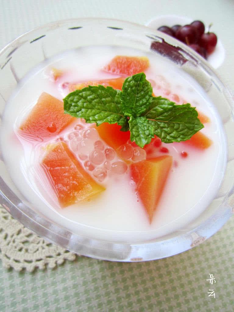 夏日清凉甜品——奶香木瓜西米露的做法图解12