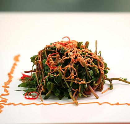 蒜蓉麻酱马齿菜的做法