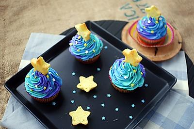 梵高的星空cupcake#不思烤就很好#店主R015烤箱试用