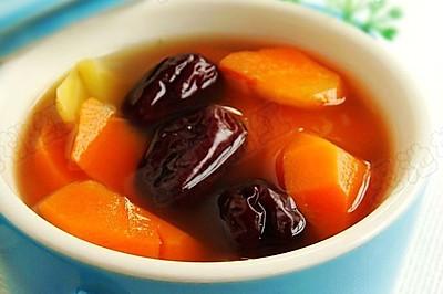 胡萝卜红枣姜片汤