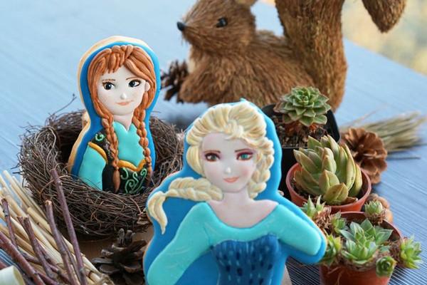 冰雪奇缘艾莎和安娜糖霜饼干的做法