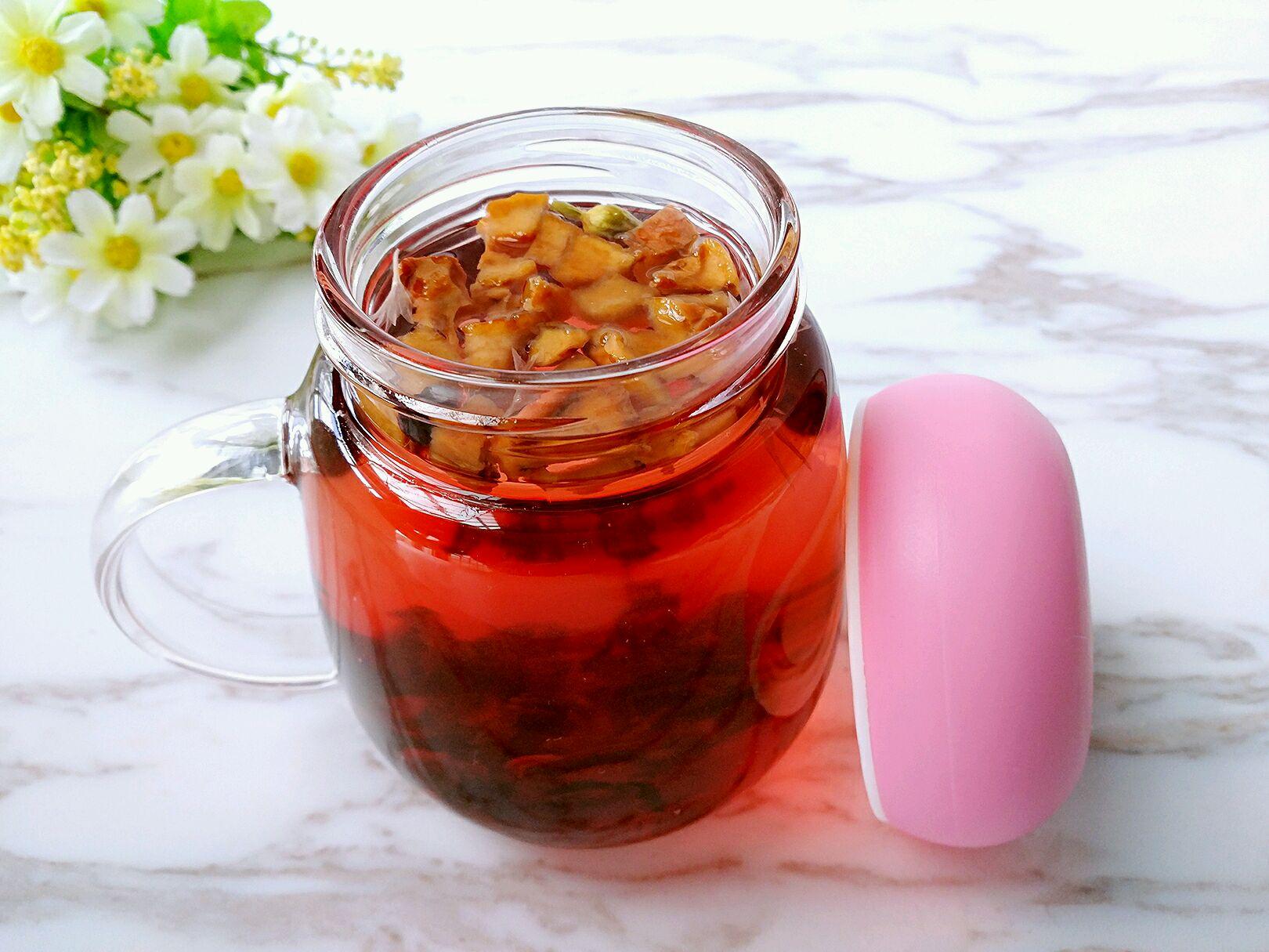 主料 洛神花20克 冰糖因自己口味调节 开水300ml 洛神花茶的做法步骤