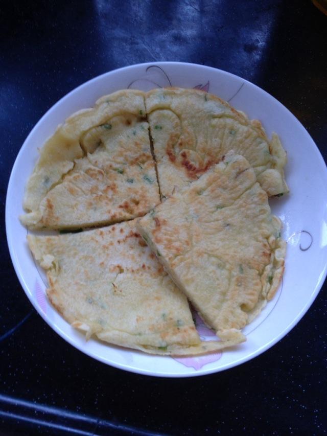 香葱蛋饼的做法_【图解】香葱蛋饼怎么做好吃_尝壹口