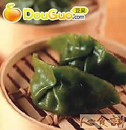 翡翠干贝蒸饺的做法