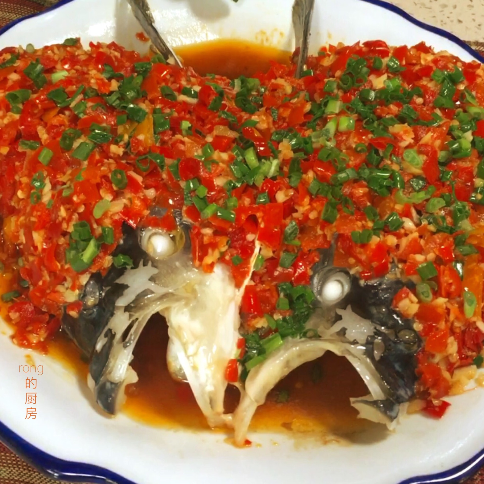 湘菜:剁椒鱼头的做法图解24