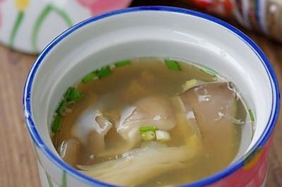 明目鲜蘑猪肝汤