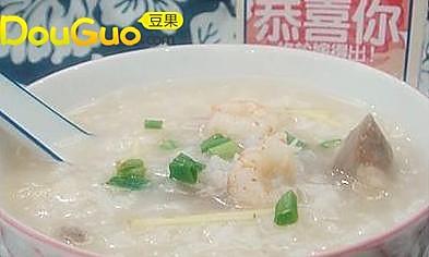 小红虾咸骨粥