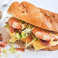 复制网红brunch海虾汉堡#百吉福时尚达人#