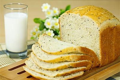 黑芝麻燕麦吐司(面包机版)