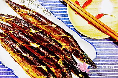 盐烤秋刀鱼+