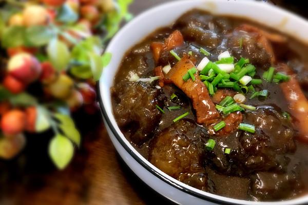 五花肉烧红薯圆#安庆特色菜#的做法_【图解】